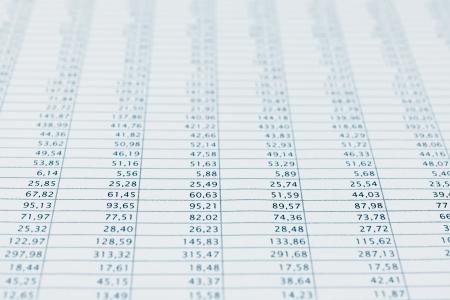 blue toned: Dati aziendali segnalare fuoco vicino mensile foglio di calcolo disponibile statistiche Blu tonica