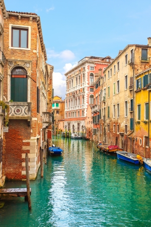 Venice cityscape, narrow water canal and traditional buildings  Italy, Europe Stock Photo - 18454311