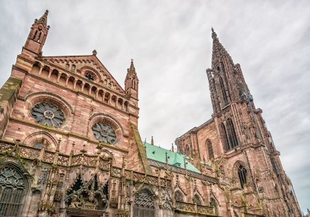 alsace: Strasbourg, Cathedral Notre Dame view  Alsace, France, Europe