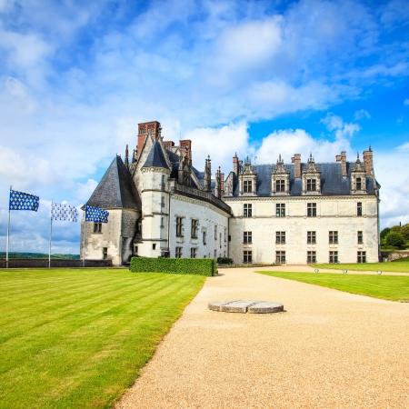 Chateau de Amboise medieval castle, Leonardo Da Vinci tomb  Loire Valley, France, Europe  Unesco site  photo