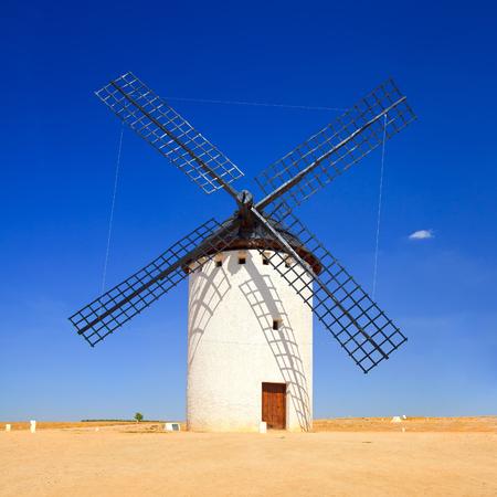 don quixote: Cervantes Don Quixote windmill, Alcazar de San Juan, Castile La Mancha, Spain, Europe Stock Photo