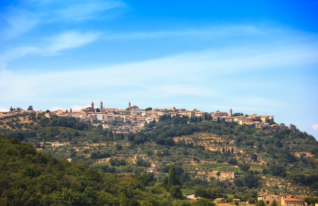 val d orcia: Tuscany, Montalcino italian medieval village  Siena, Val d Orcia, Italy