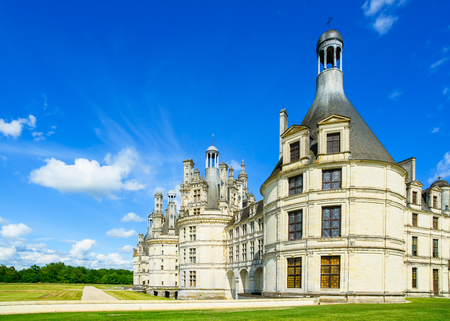 heritage site: Chateau de Chambord, royal medieval french castle  Loire Valley, France, Europe  Unesco heritage site