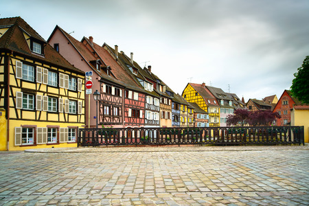 colmar: traditional colorful houses in Alsace, France  Stock Photo