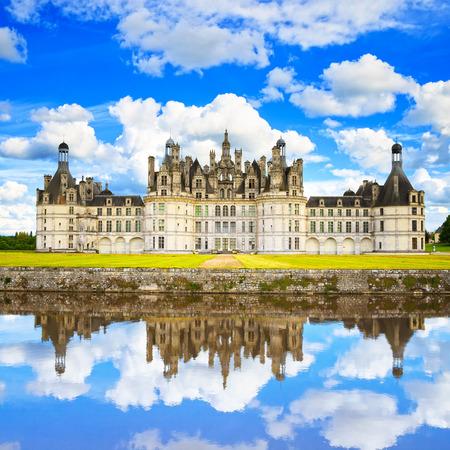 샹 보르 성, 왕의 중세 프랑스어 성 및 반사 루 아르 밸리, 프랑스, 유럽 유네스코 문화 유산