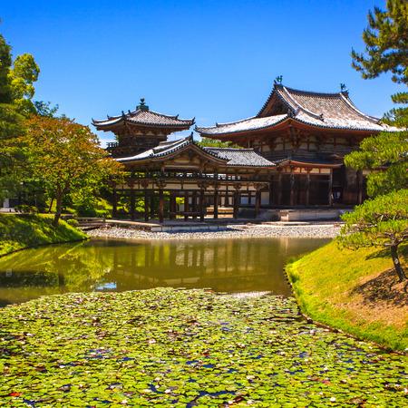 Byodoin or Byodo in buddhist temple Site  Uji Kyoto, Japan, Asia