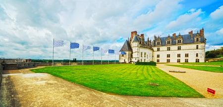 Chateau de Amboise medieval castle, Leonardo Da Vinci tomb. Loire Valley, France, Europe. Unesco site.