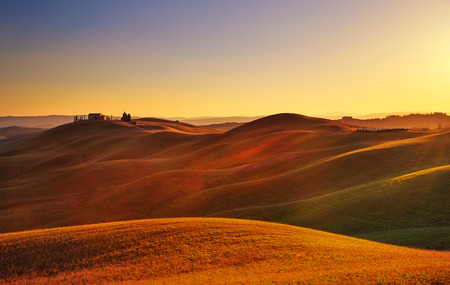 the tuscany: Tuscany, rural landscape in Crete Senesi land.