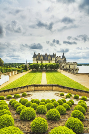 royal park: Chateau de Amboise medieval castle, Leonardo Da Vinci tomb. Loire Valley, France, Europe. Unesco site. Editorial