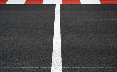 circuit: Start and Finish motor race line asphalt on Grand Prix street circuit