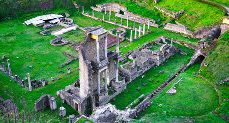 Volterra, roman theatre ruins. 1st century bce, Tuscany, Italy, Europe.