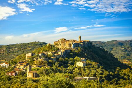 Tuscany, Montegiovi medieval village. Monte Amiata, Castel del Piano, Grosseto, Italy, Europe Imagens