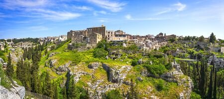 Gravina in Puglia canyon and old town. Apulia, Italy. Europe