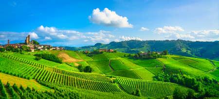 Langhe vineyards panorama, Serralunga d Alba, Piedmont, Northern Italy Europe.