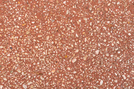 Red grit texture background for architecture surfaces, floor tiles or park bench Stock Photo