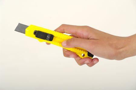 cut wrist: craft knife