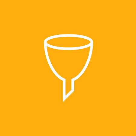 Funnel vector icon