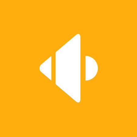 Sound, speaker icon, stock vector, eps10.