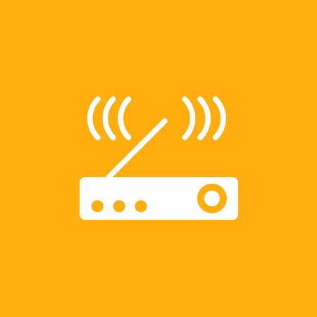 Modem Icon, wireless icon, stock vector