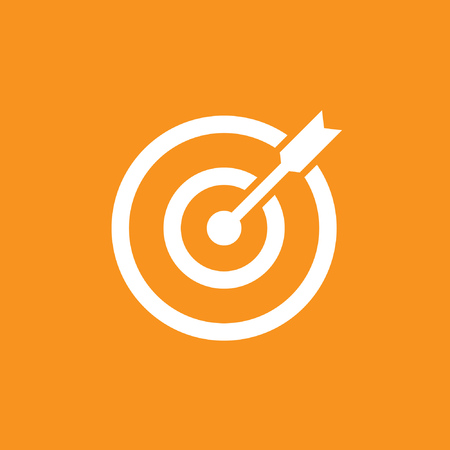 Target, Aim, Accuracy, Success icon,  stock vector, eps10.