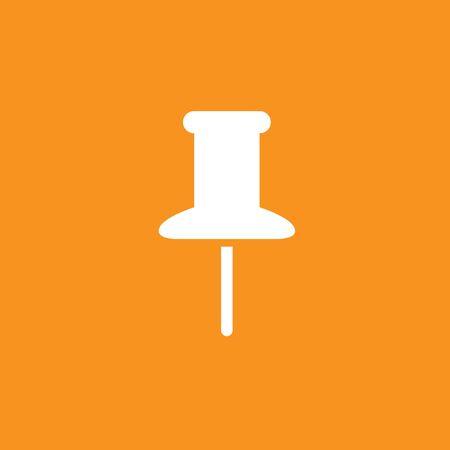 Pushpin, needle icon, stock vector.