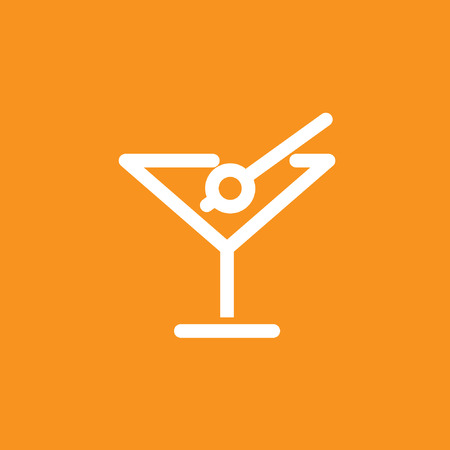 cocktail icon, stock vector, eps10.