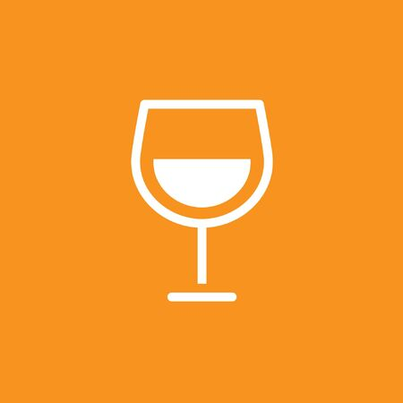 Glass of wine icon, stock vector, eps10.