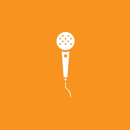 Microphone icon stock vector design Ilustração