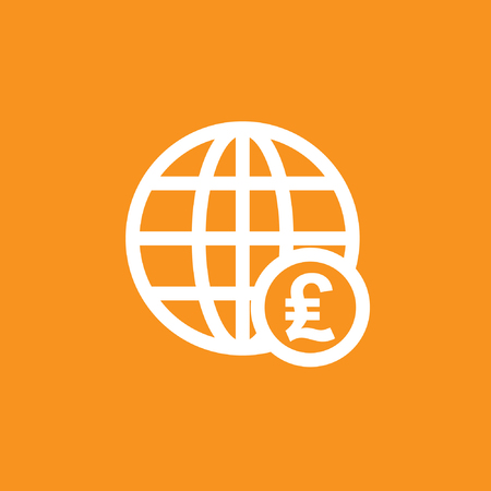 Currency and globe icon stock vector design