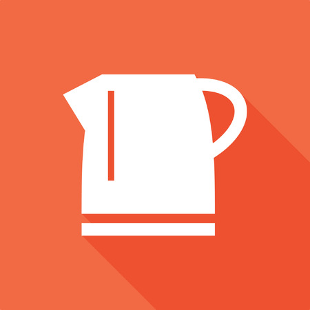 Electric kettle, coffee maker icon