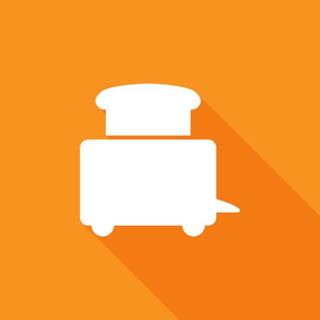 Toaster icon, stock vector Stock Illustratie