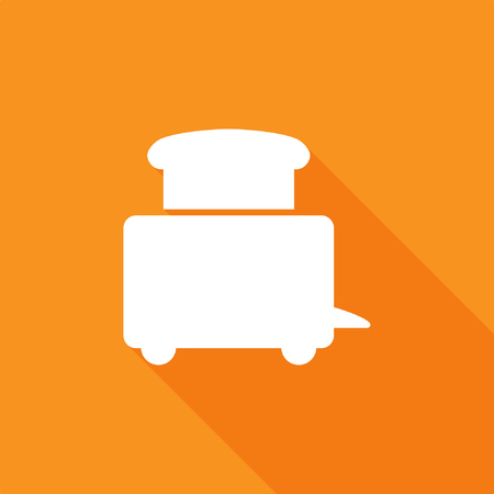 Toaster icon, stock vector Ilustrace
