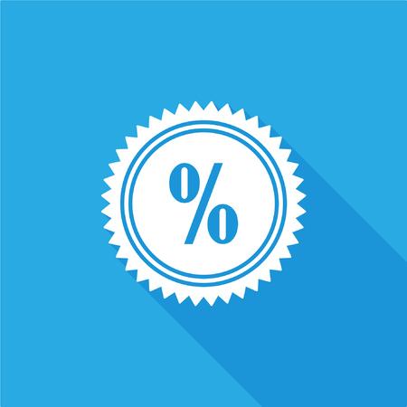 Discount label icon Illustration