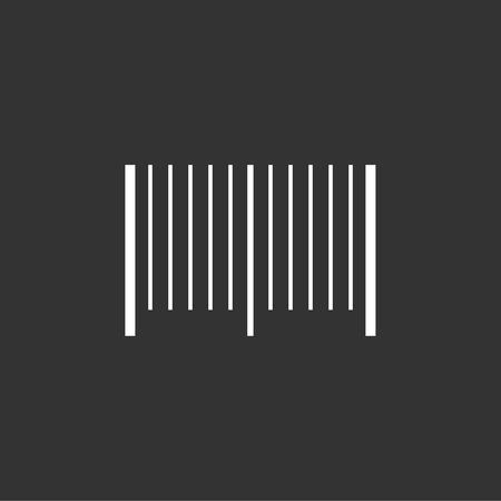 Bar code icon stock vector Ilustração