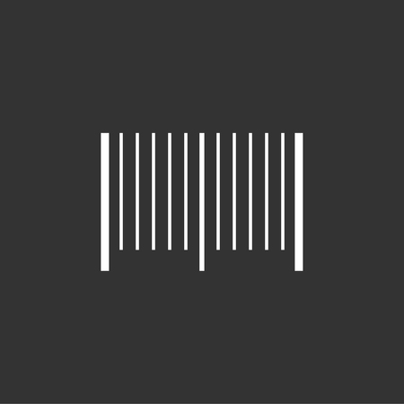 Bar code icon stock vector Çizim
