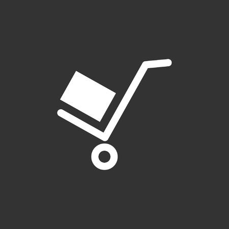 Dolly icon, stock vector, eps10.