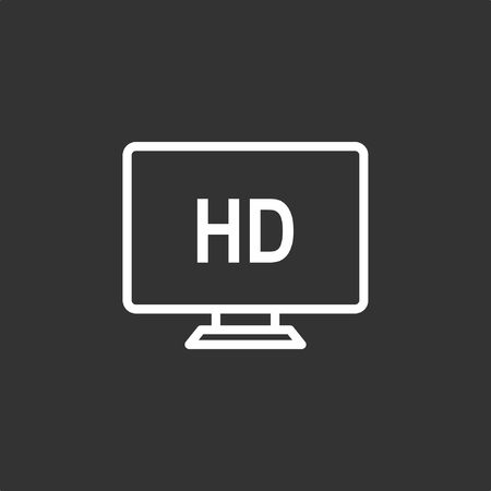 TV icon, stock vector