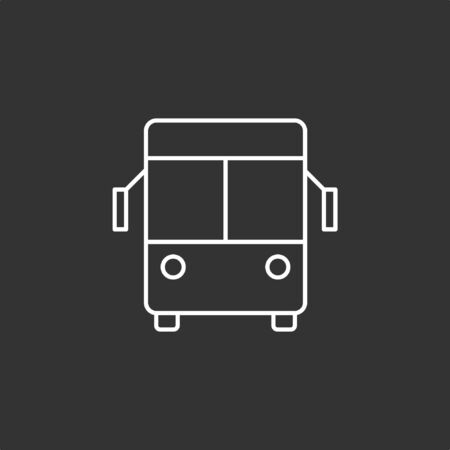 Bus icon, stock vector. Illustration