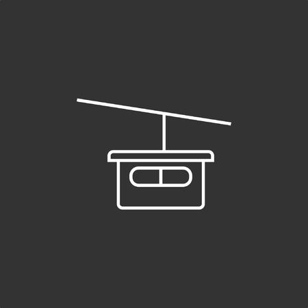 Gondola icon, stock vector.