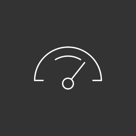 Speedometer Icon, Vector Illustration, EPS10. Illustration
