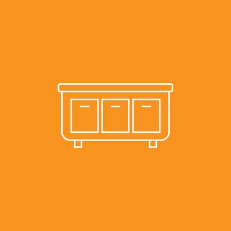 Cabinet Icon, Vector Illustration Stock Illustratie