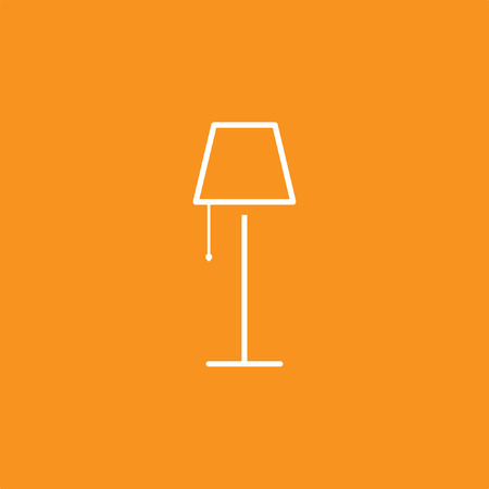 Lamp Icon, Vector Illustration