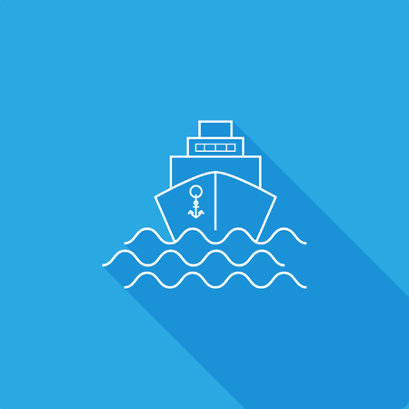 Ship Icon, stock vector illustration, EPS10.