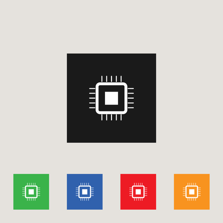 CPU icon, stock vector illustration.