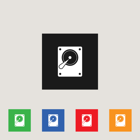 Hard Drive icon, stock vector illustration, EPS10.