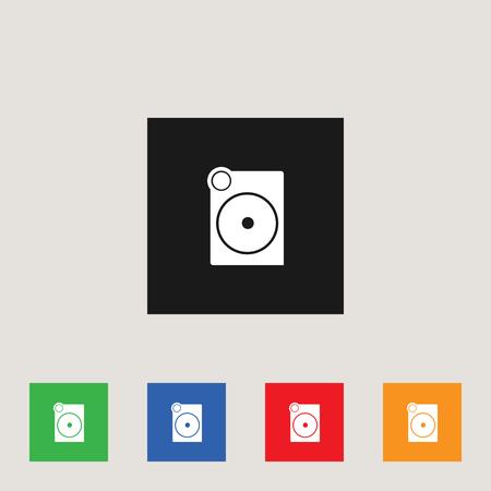 Speaker icon set, stock vector illustration
