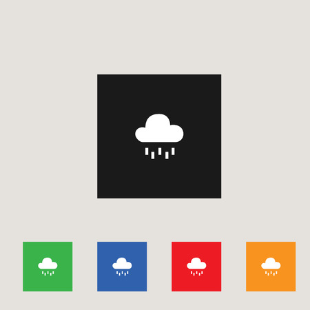 Rainy weather  icon, stock vector illustration, EPS10. 矢量图像