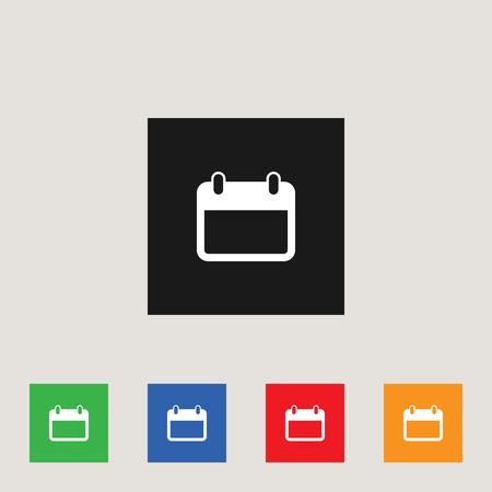 Calendar icon, stock vector illustration, EPS10.