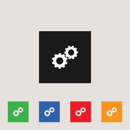 Cogwheel icon, stock vector illustration