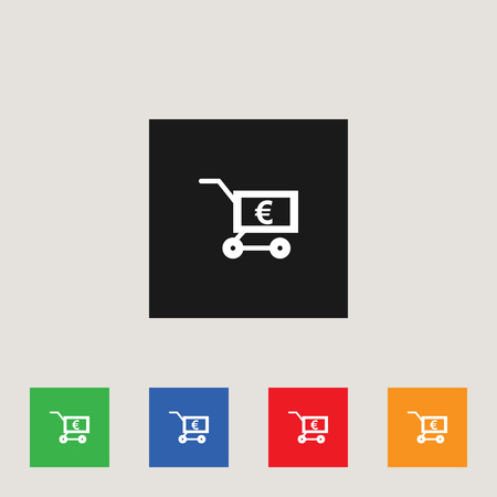 Shopping cart icon, stock vector illustration, EPS10.